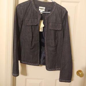 Christopher & Banks Jean jacket/blazer